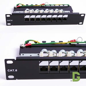 "dGLink 10""Patch panel Cat 6, 8 port x RJ45 UTP"