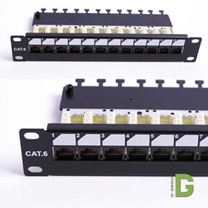 "dGLink 10""Patch panel Cat 6, 12 port x RJ45 Uskjermet"
