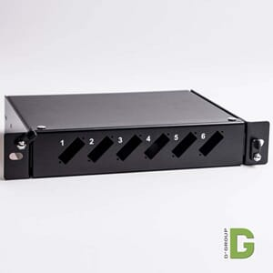 "10"" Fiber Patch panel for 6 stk. SC/SC Duplex"