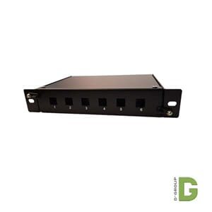 "10"" Fiber Patch panel for 6 stk. LC/LC Duplex"