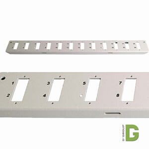 Frontplate for 12xSC duplex adapter