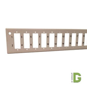 Frontplate for 24xSC duplex adapter