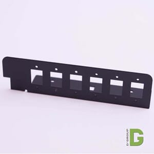 Adapterplate 6 port SC simplex / LC Duplex