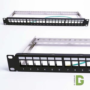 Patchpanel for skjermet keystone 24 port