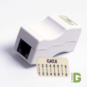 Skjøteboks for RJ45 Cat.6 ,Hvit.